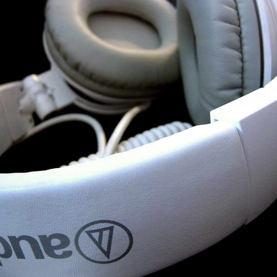 Headphones closeup